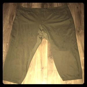 Olive colored Capris